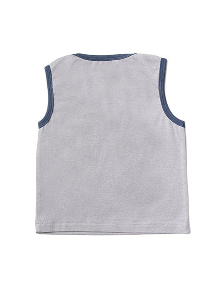 Grå Sektion Tank Top