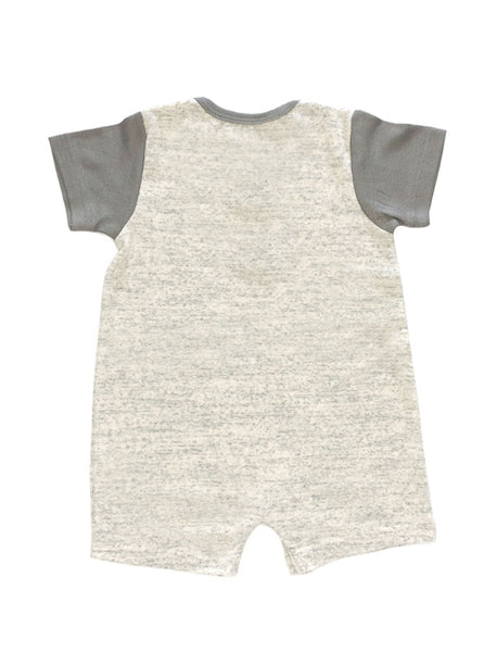 Grå Sektion Short-Sleeves Romper