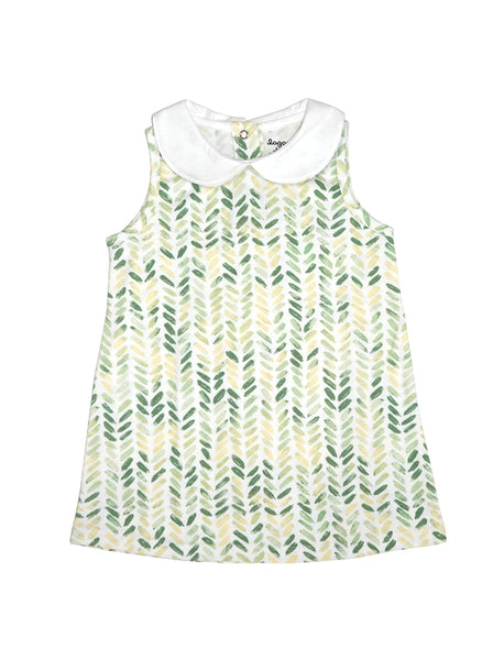 Blom Green A-line Collar Dress