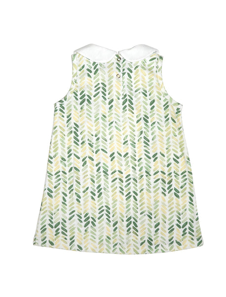 Blom Green A-line Collar Dress (Limited Edition)
