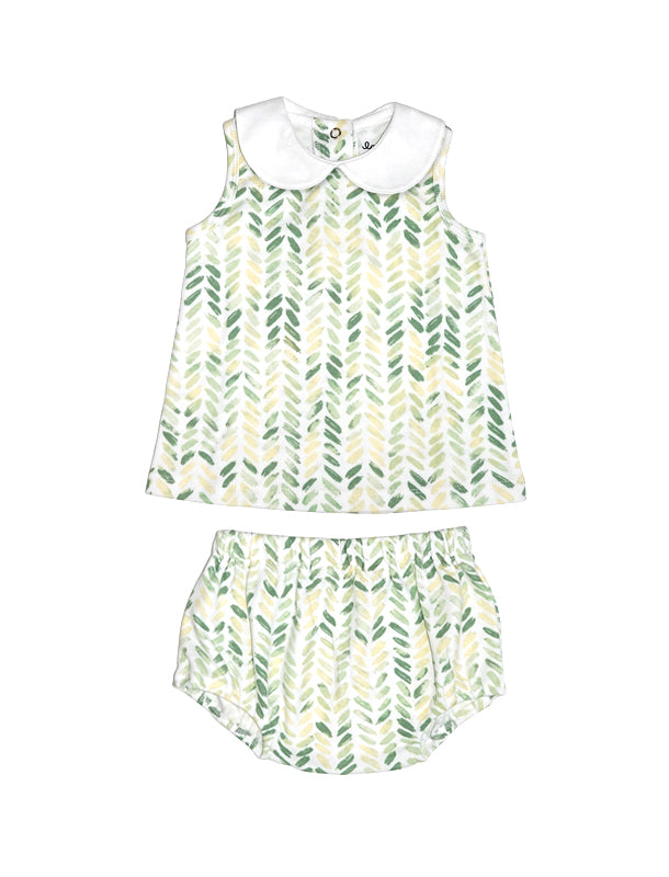 Blom Green Singlet & Bottom Baby Set