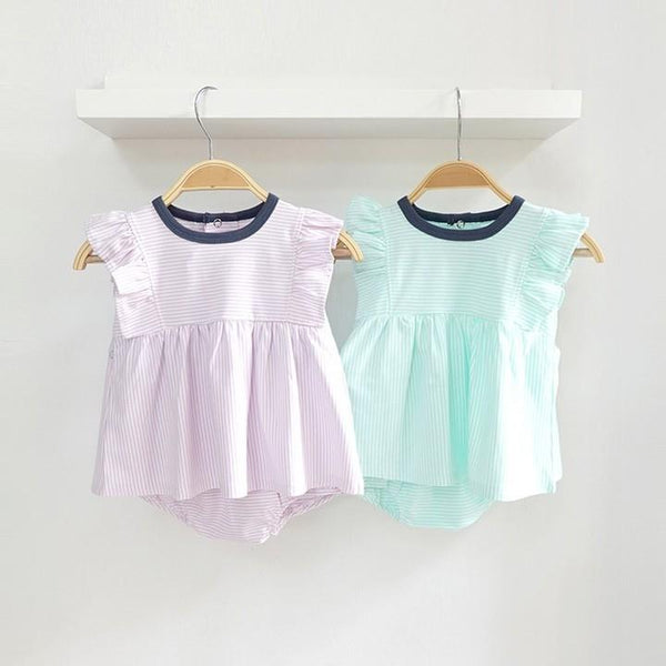 Bundle Deal Super Soft Pastel Baby Dress Set