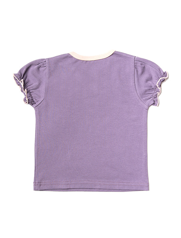 Lila Droppe Top