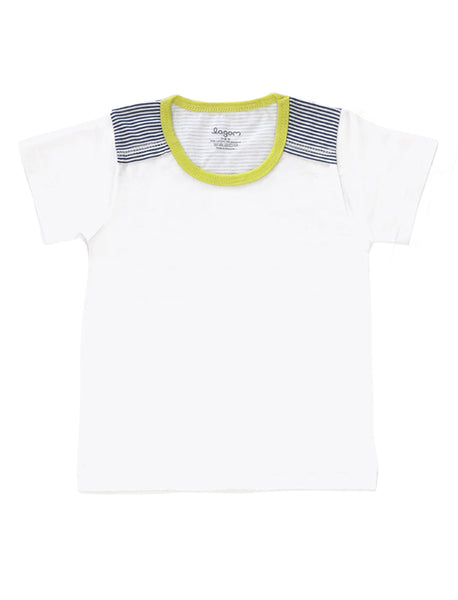 Randig Sektion Short-Sleeves T-shirt