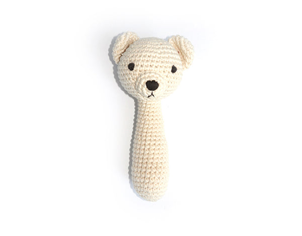Baby Bear Rattle Snuggle Friend