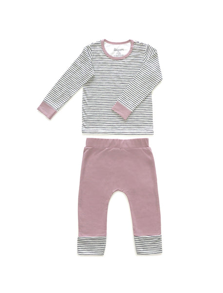 Rosa Randigt Long Sleeves PJ Set