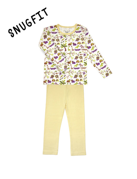 Yellow Safari Long Sleeves PJ Set
