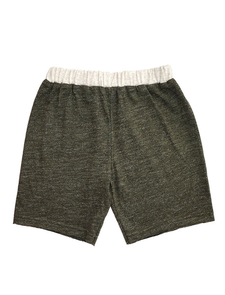 Stripy Olive Colourblock Shorts