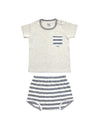 Stripy Grey T-shirt & Bottom Baby Set