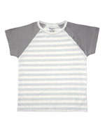 Stripy Blue and Grey Short-sleeves Tee