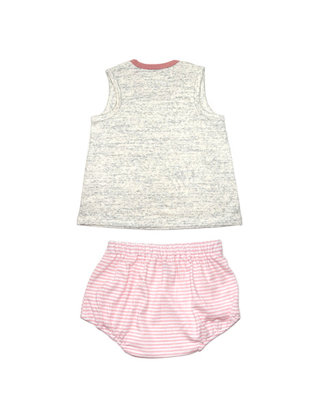 Stripy Pink Singlet & Bottom Baby Set