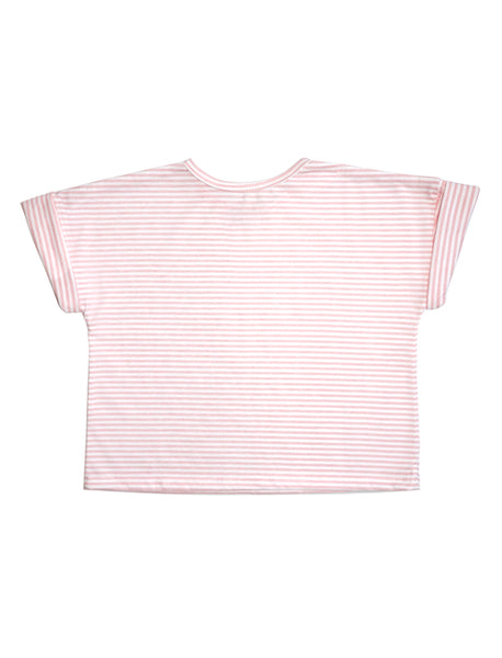 Stripy Pink Cropped Tee