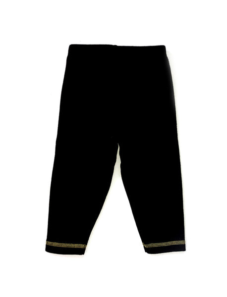 Svart Gul Patch Pants