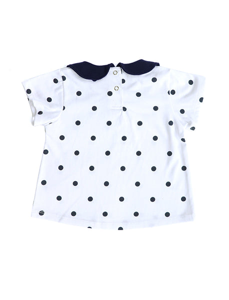 Dotti Collared Short Sleeves Top