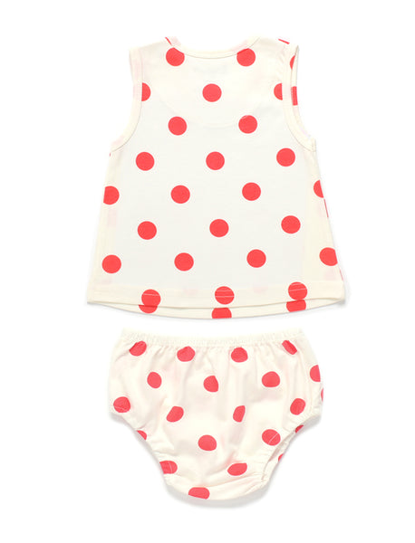 Vit Pippi Singlet & Bloomers (Baby & Toddler Set)