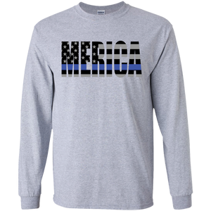 MERICA Long Sleeve Thin Blue