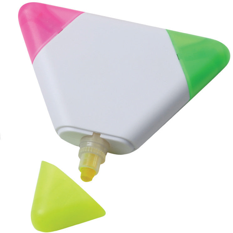 Full colour digital print Triple highlighter in wax. Prices from £1.05p per pen - www.promopen.co.uk