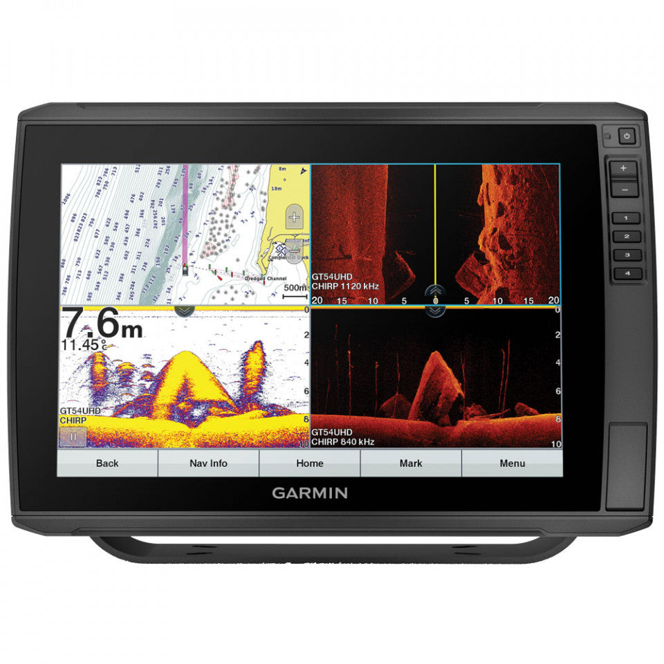 Garmin Touchscreen echoMAP 125SV ULTRA Sounder/GPS/Mapping with ClearVu and SideVu