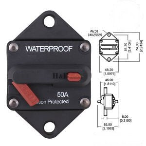 50A Waterproof Recessed Mount Circuit Breaker
