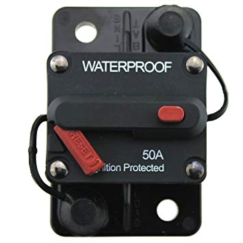 50A or 60A Waterproof Surface Mount Circuit Breakers