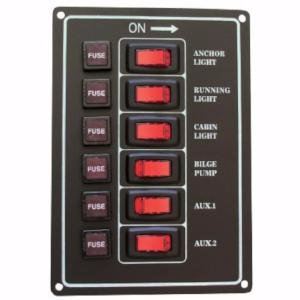 6 Gang Switch Panel with Fuses