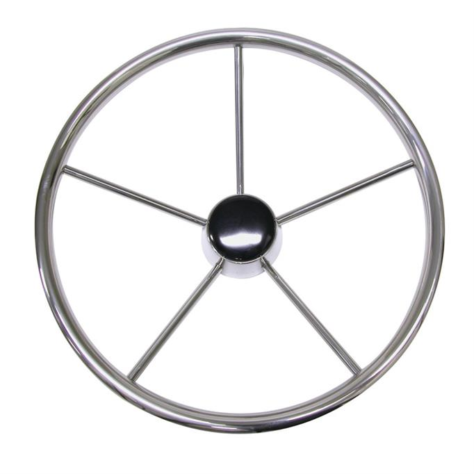 Stainless Steel Five Spoke Steering Wheel - 4 Sizes