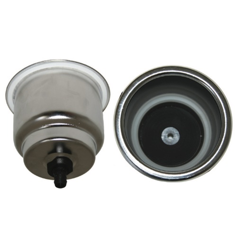 Large Recessed Drink Holder with LED - Stainless Steel