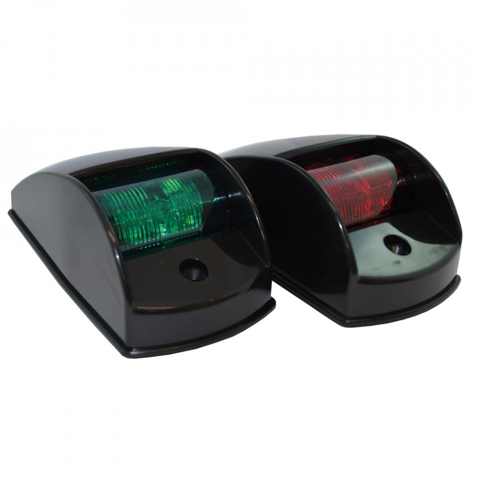 Traditional Style Port and Starboard LED Navigation Lights - Black
