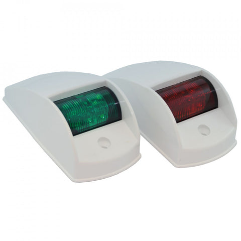 Traditional Style Port and Starboard LED Navigation Lights - White