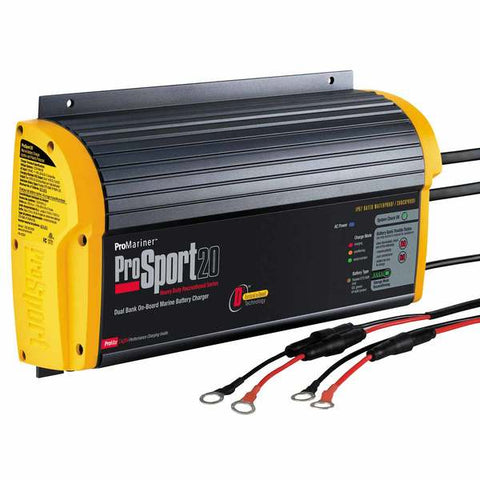 ProMariner ProSport 20amp 2 Bank Battery Charger