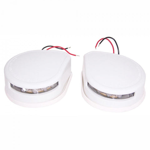 LED Bow Mount Port and Starboard Navigation Lights - White