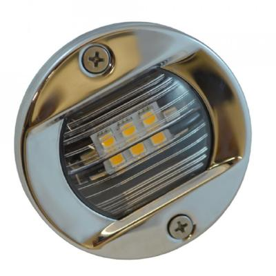 Flush Mount Round Stainless Steel LED Light