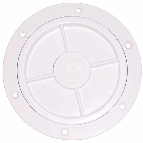 4 inch Inspection Port with Recessed Lid - White