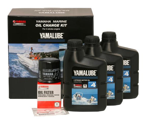 Yamaha 80HP - 115hp Marine Oil Change Kit (YLU-10W30-KT-20)
