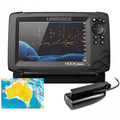 Lowrance Hook Reveal 7 Colour Fishfinder/GPS/Mapping with Splitshot Transducer - P/N 000-15519-001