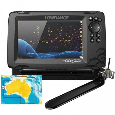 Lowrance Hook Reveal 7 Colour Fishfinder/GPS/Mapping with Tripleshot Transducer - P/N 000-15521-001
