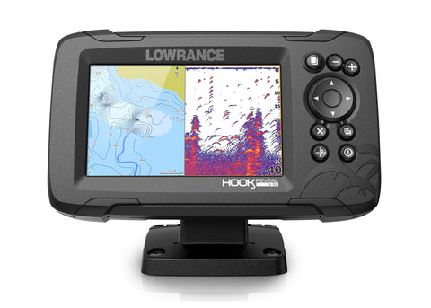 Lowrance Hook Reveal 5 Colour Fishfinder/GPS/Mapping with Splitshot Transducer - P/N 000-15505-001
