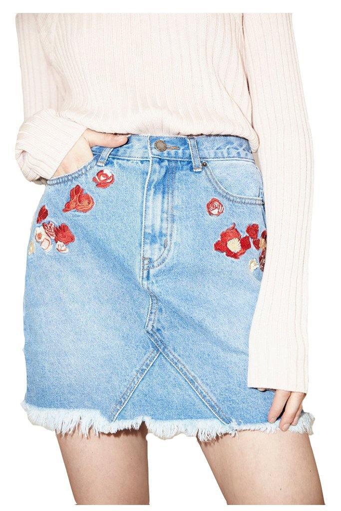 Asta Embroidered Skirt