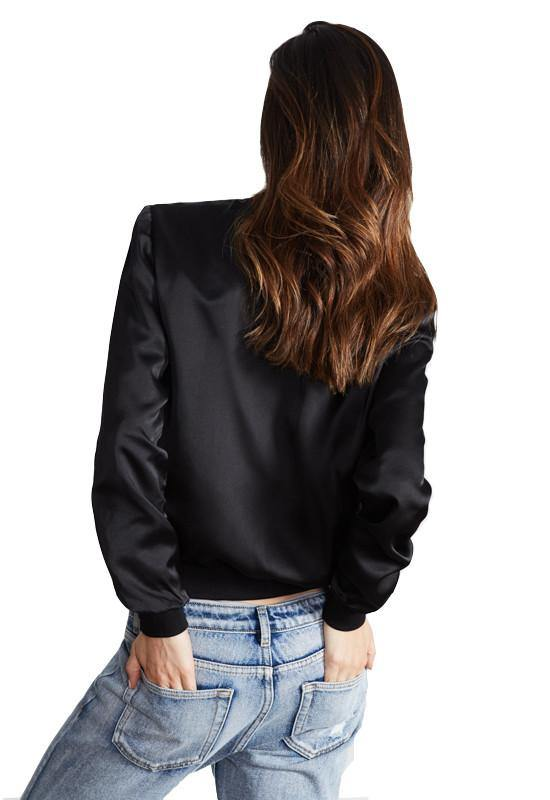Baldwin Silk Bomber - Black