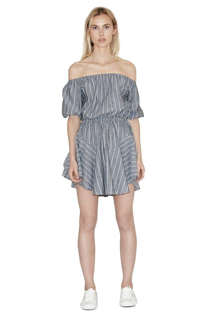Cubic Stripe Dress