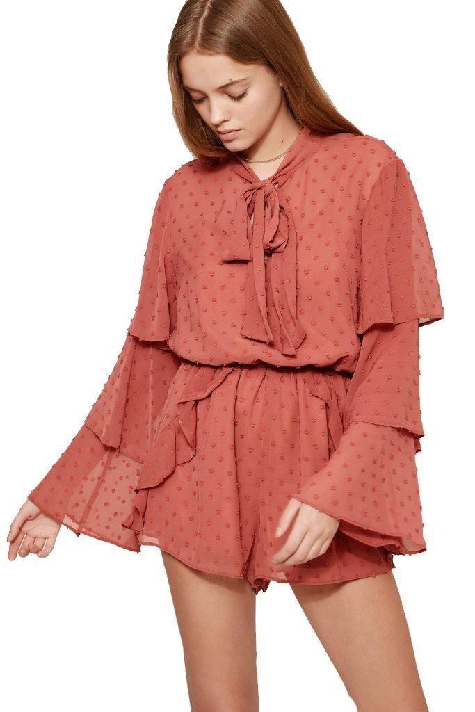 Freya Long Sleeve Playsuit