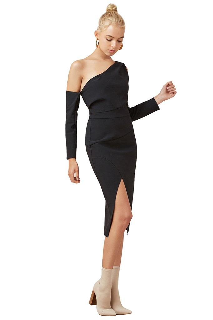 Oblivion Long Sleeve Dress | Black