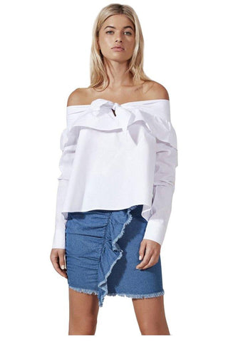 Angelique cold shoulder top by Madison Square Clothing