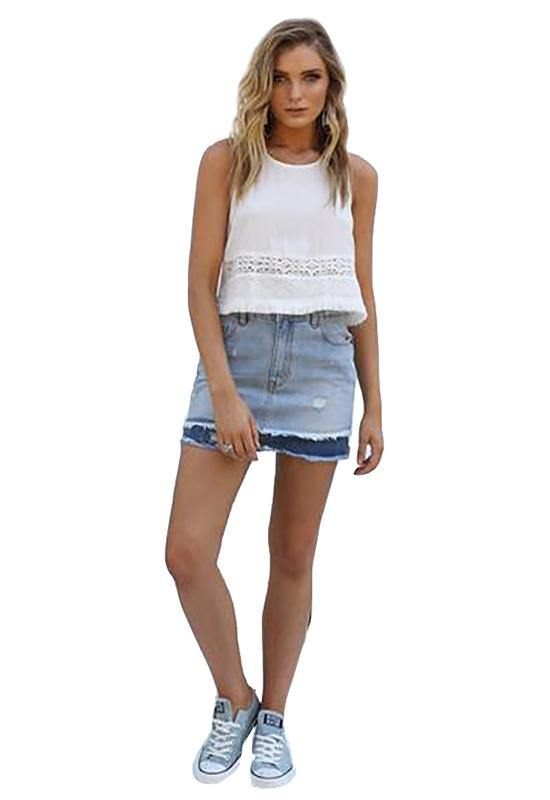 Santana Denim Skirt