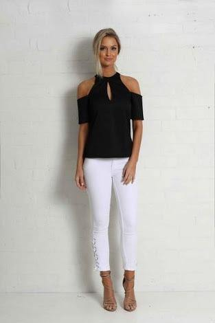 Labour of love Wrap top in black