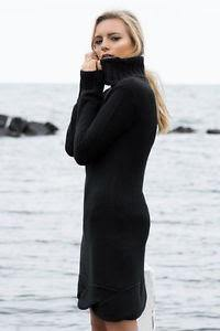 Sara Roll Neck knit dress