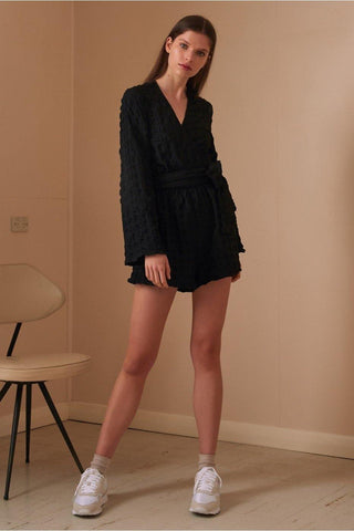 HAZEL PLAYSUIT - BLACK
