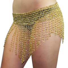 Beaded Elastic Waist Rave Belly Dance Skirt