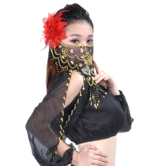 BellyLady Belly Dance Tribal Face Veil With Beads
