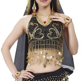 BellyLady Tribal Belly Dance Costume Halter Gold